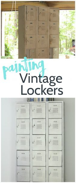 Restoring old rusty vintage lockers isn't as easy as it looks, but paint can make all the difference.