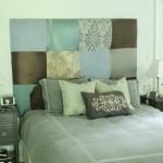 Upcycled upholstered headboard