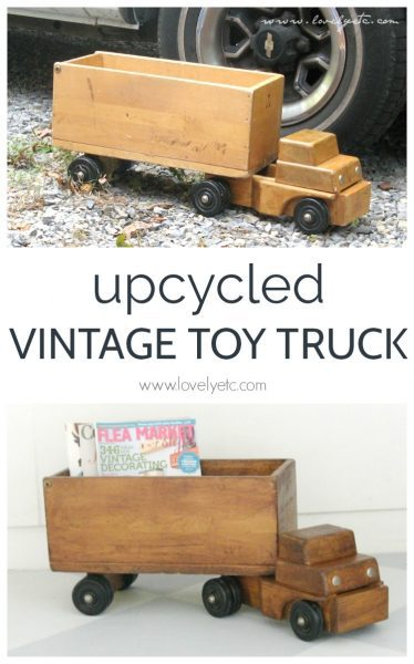 Easy way to upcycle a vintage toy truck as home decor.