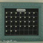 Giveaway Time! – Magnetic chalkboard calendar
