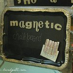 Sweet magnetic chalkboard