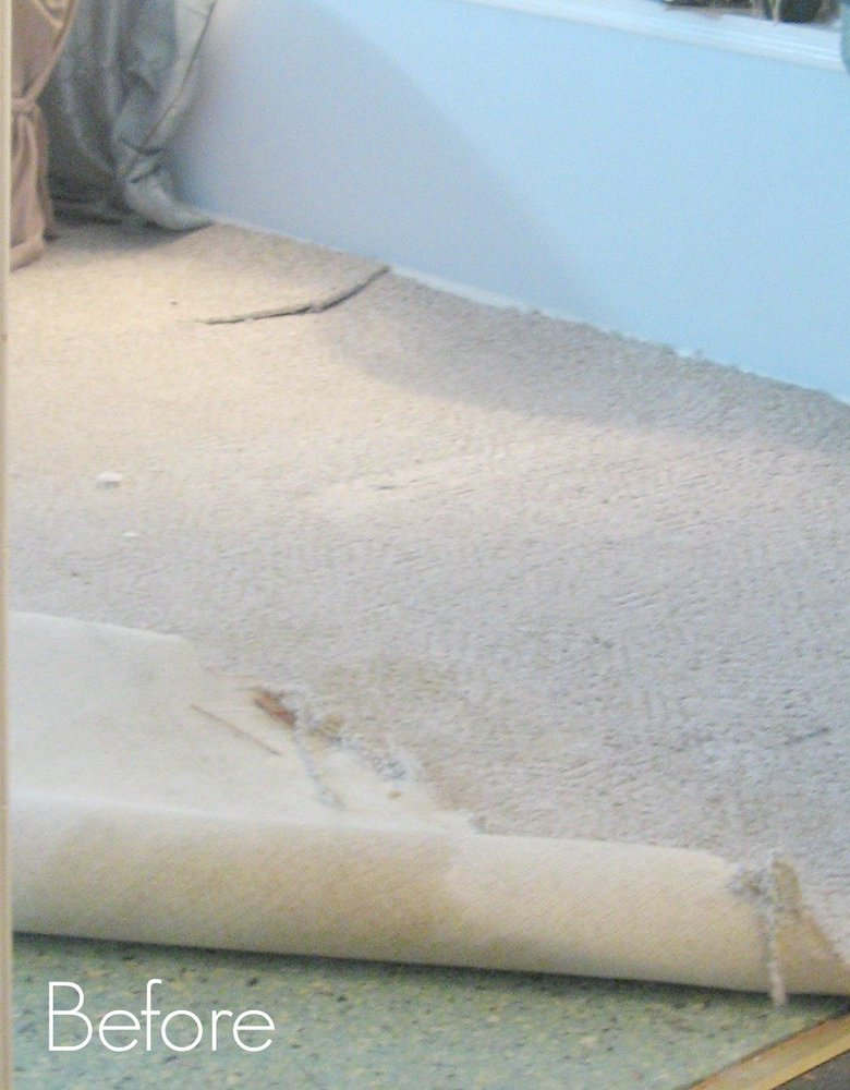 Amazing Painted Floors How To on remove old carpet padding