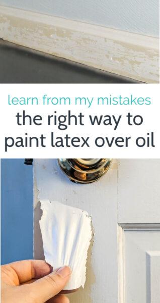 paint peeling off trim and door