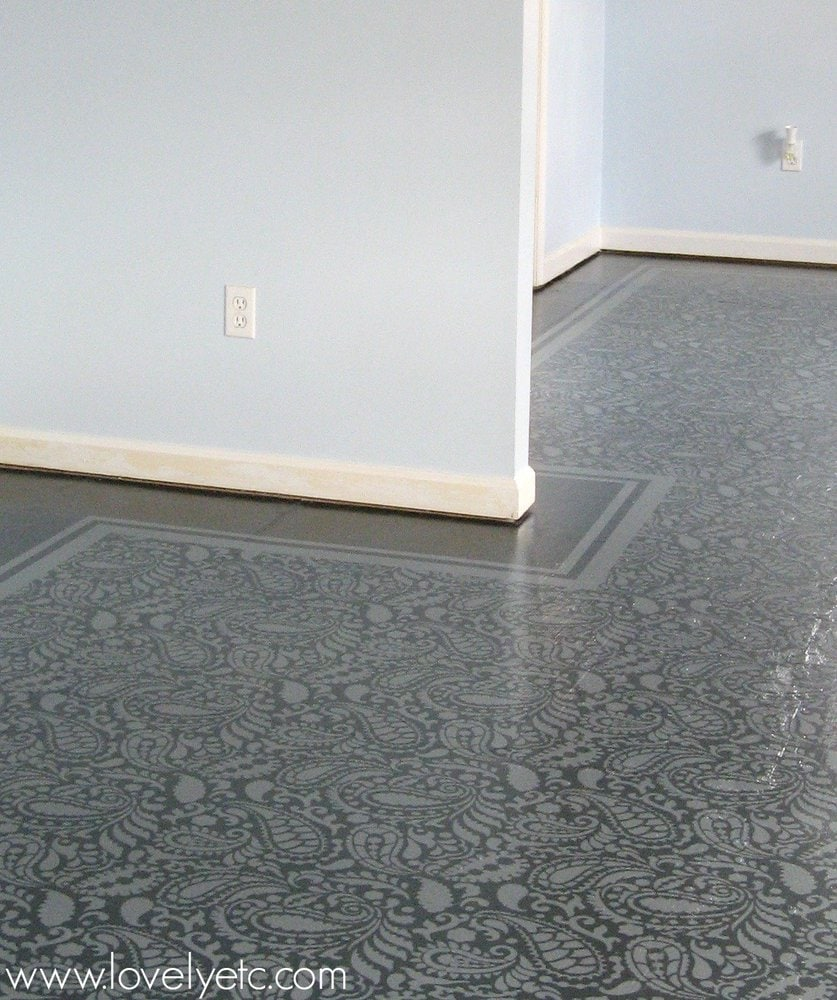 Amazing painted plywood subfloor a how to for Floor to the floor