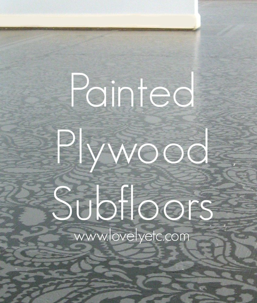 Painted Floor amazing painted plywood subfloor: a how to