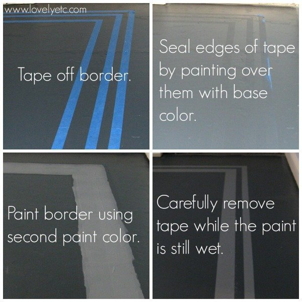 how to paint a border over your base color