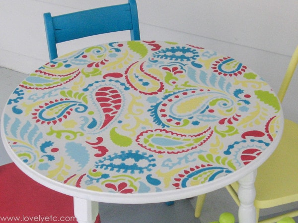 Colorful Paisley Table Top
