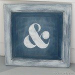 Chalk Paint Ampersand Sign