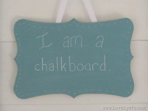Sweet blue chalkboards