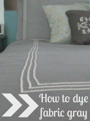 dye fabric gray