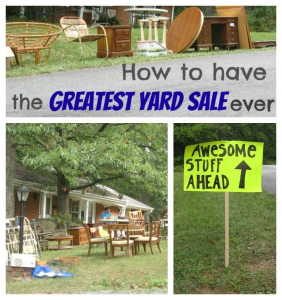how to have the greatest yard sale ever