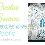 Creative sources for inexpensive fabric
