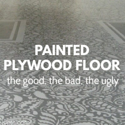 Painted Plywood Floor Update: The Good, The Bad, and The Ugly