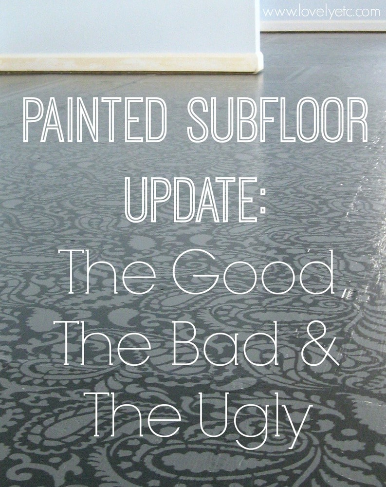 Painted Floor painted plywood floor update: the good, the bad, and the ugly