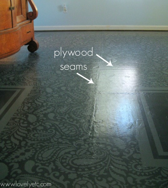plywood seams