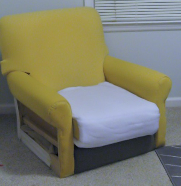 arm chair without fabric