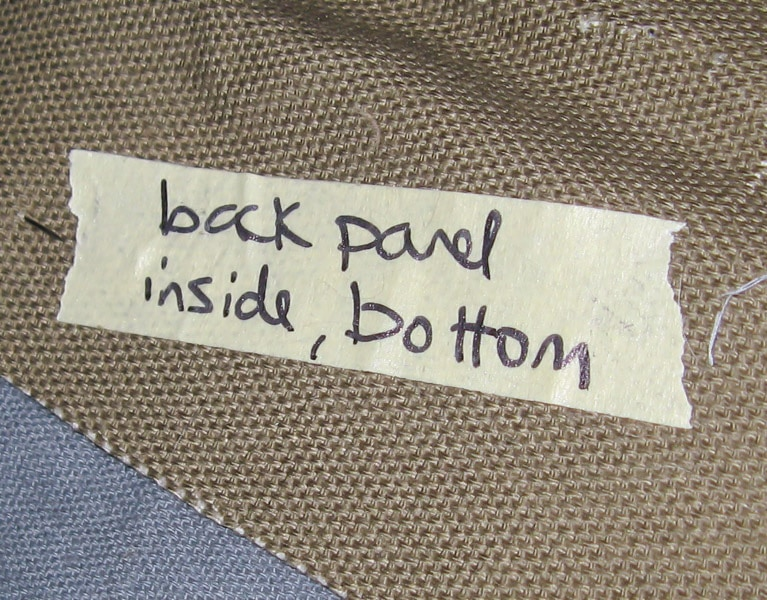 label upholstery pieces