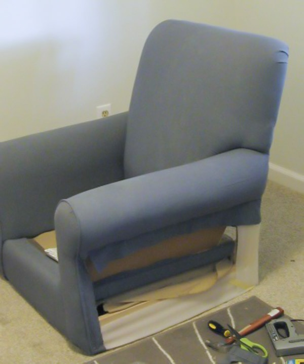 How to reupholster an armchair - Lovely Etc.