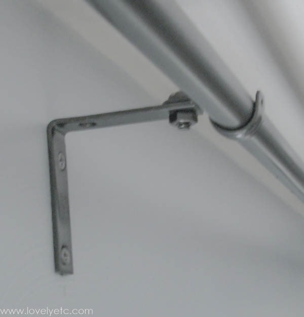 Curtains Ideas curtain rod hanger : The cheapest DIY curtain rods ever - Lovely Etc.