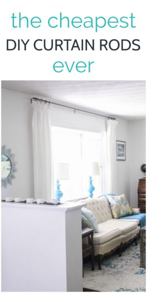 These DIY curtain rods are incredibly easy to make using simple supplies from your local hardware store.