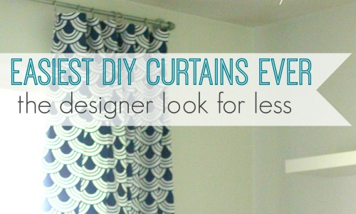 easiest diy curtains ever feature