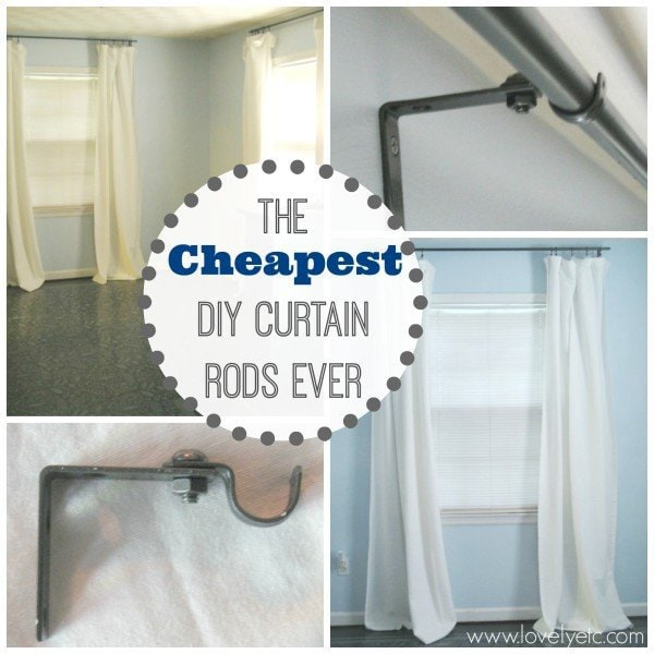 the cheapest diy curtain rods ever lovely etc. Black Bedroom Furniture Sets. Home Design Ideas