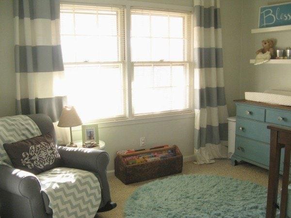 Gray and Aqua nursery reveal