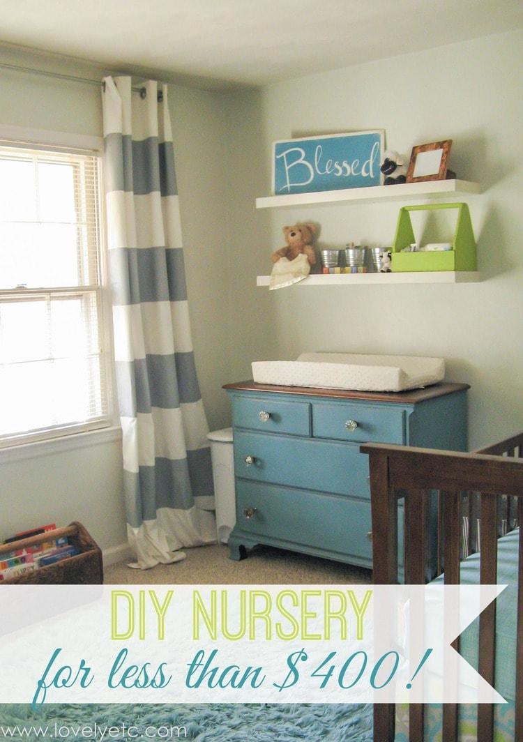 DIY nursery on a tiny budget - Lovely Etc.