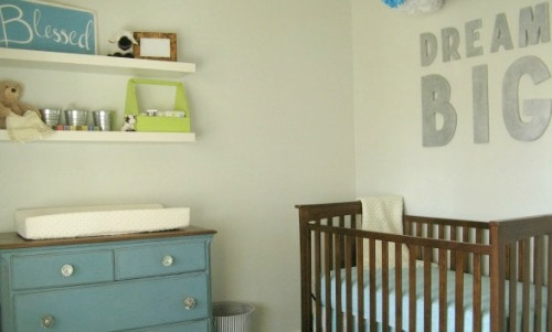 DIY nursery on a tiny budget