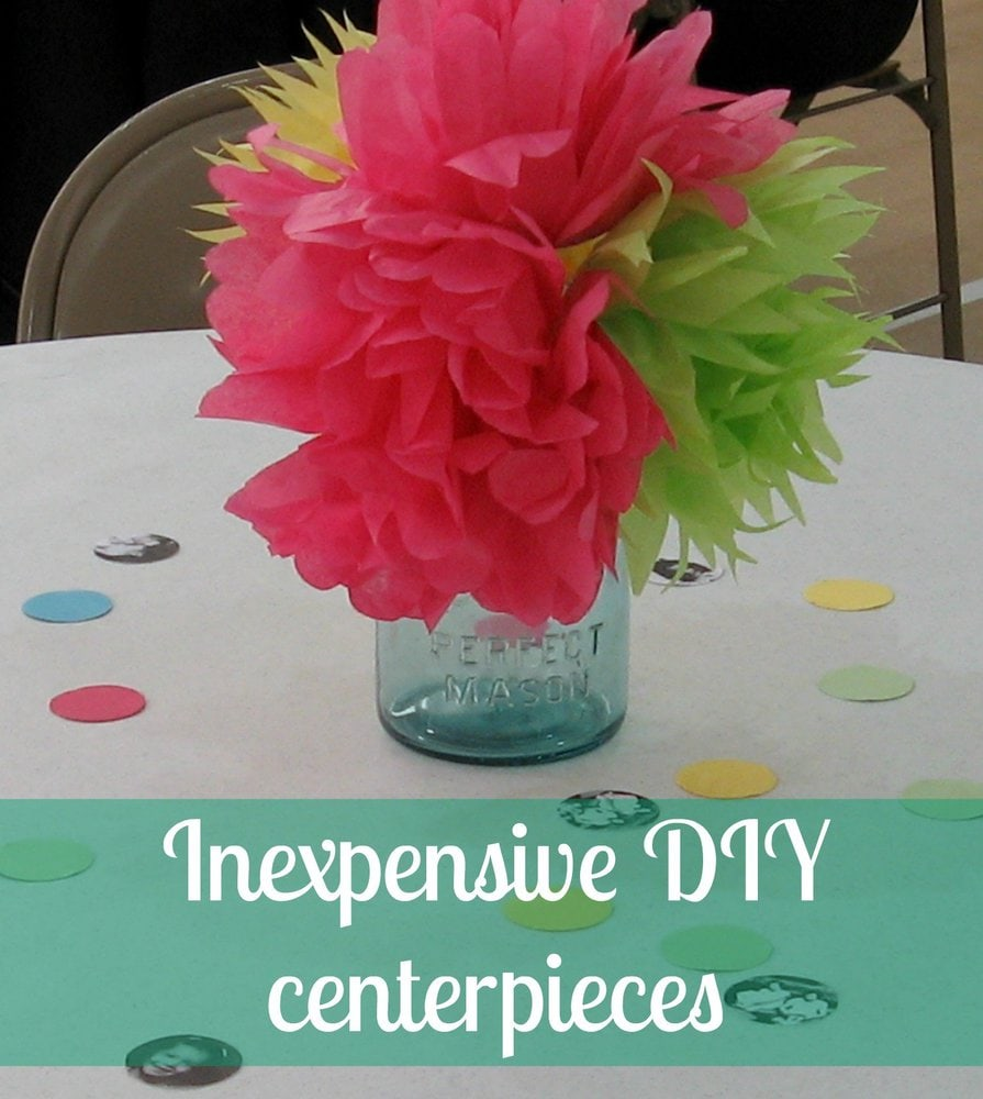 Cheap diy party centerpieces lovely etc Cheap table decoration ideas