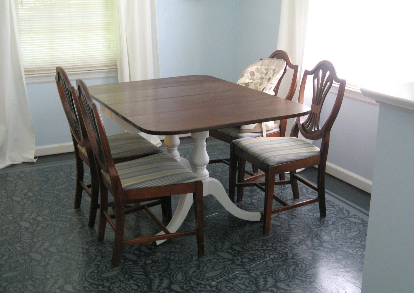 Custom Table Pads For Dining Room Tables Painting trash to treasure: dining room table - lovely etc.