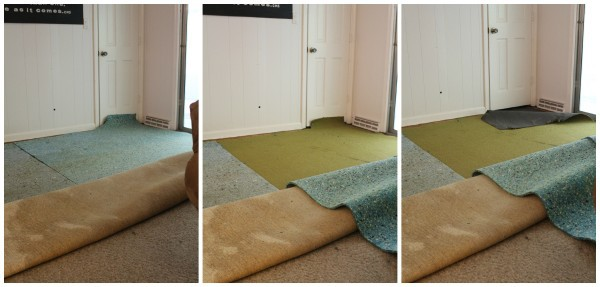 How to remove glued-down carpet - Lovely Etc
