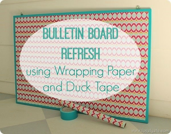 bulletin board makeover 2