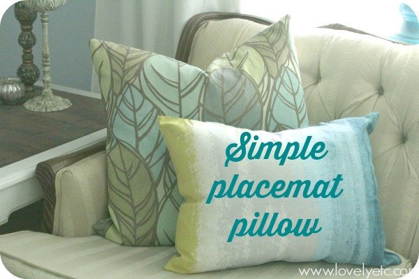 Simple placemat pillow cover