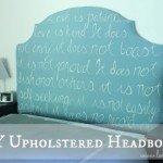 Unique DIY Upholstered Headboard