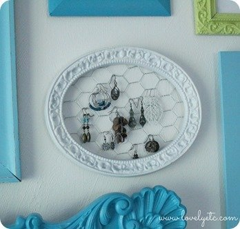 DIY earring holder - Lovely Etc.