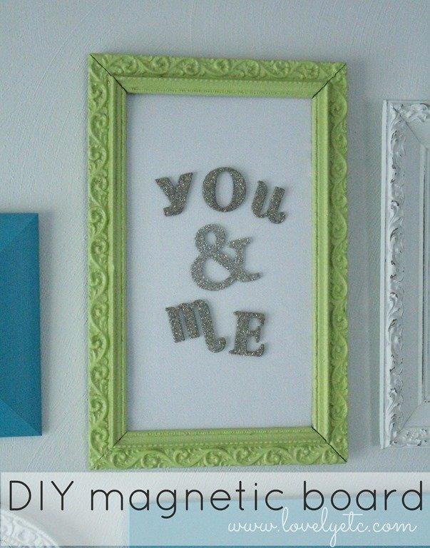 framed magnetic board lovely etc
