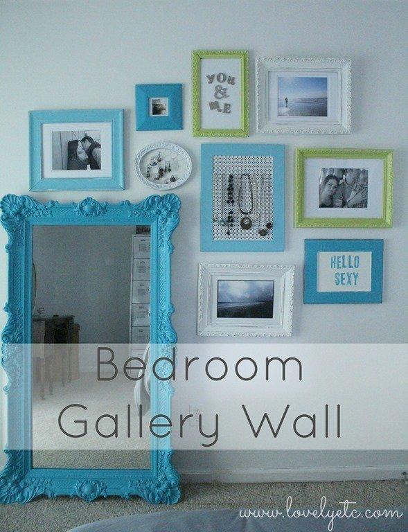 Meaningful gallery wall in the master bedroom lovely etc for Bedroom gallery wall