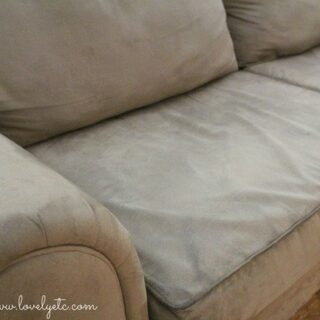 clean sofa close up
