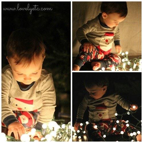 christmas lights collage