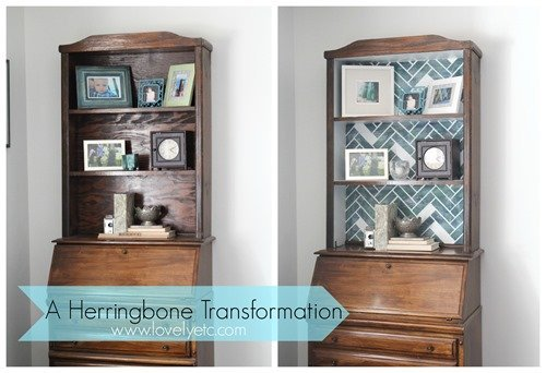 A herringbone transformation furniture style