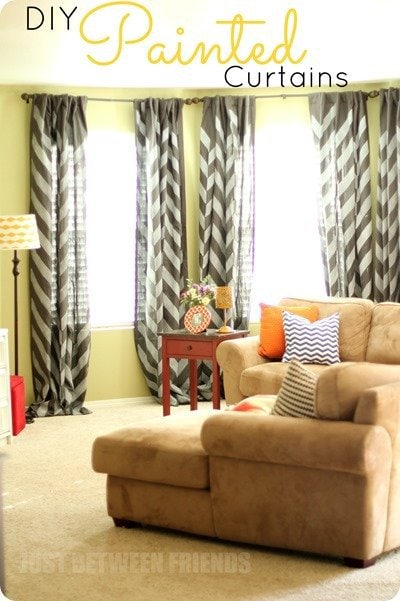 DIY-Painted-Curtains-2 from just between friends