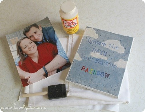 DIY photo canvas supplies