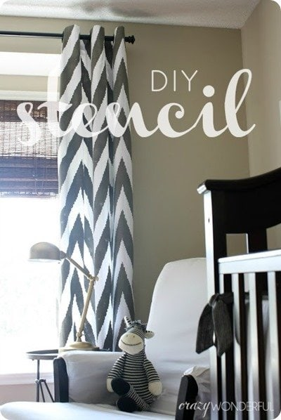 DIY stencil curtains from crazy wonderful