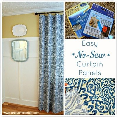No-Sew-Curtain-Panels-Tutorial from artsy chicks rule
