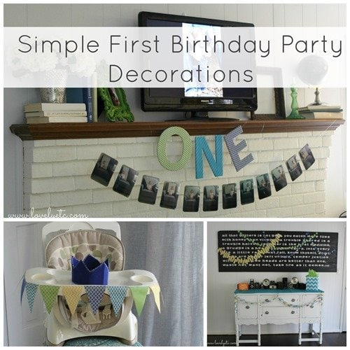 Simple first birthday party decorations