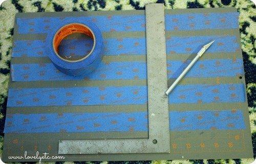 cutting tape strips