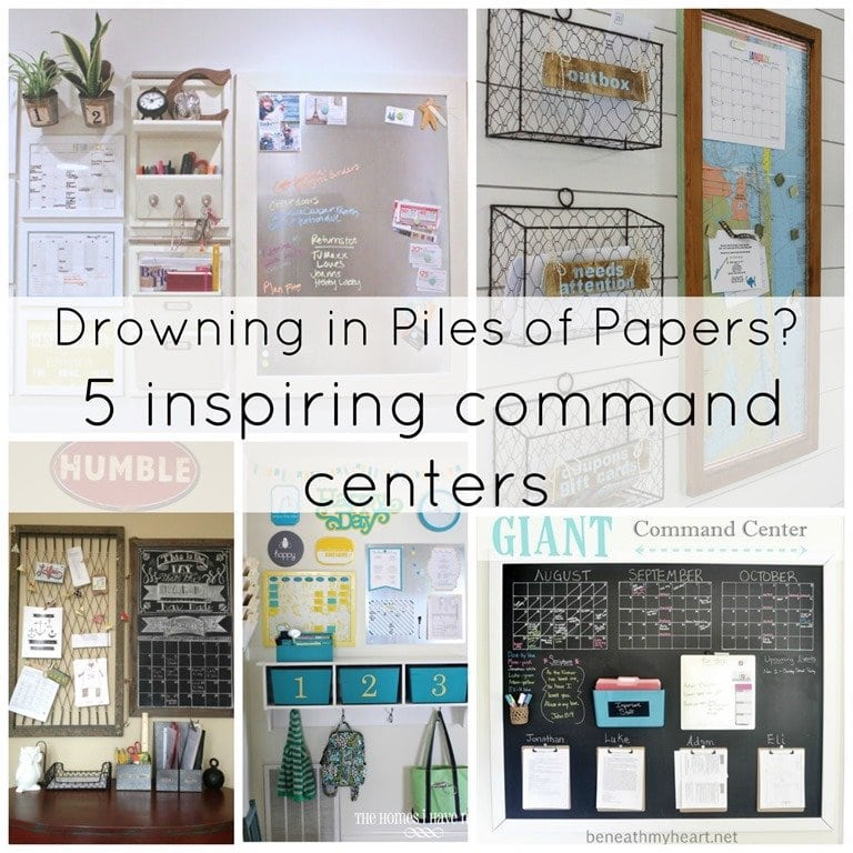 Drowning in Piles of Papers? 5 Inspiring Command Centers