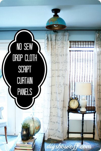 no-sew-dropcloth-curtains1 - DIY show off