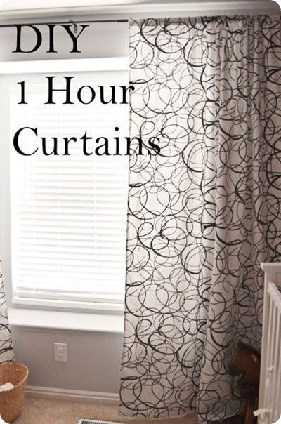 one hour curtains from A few of my favorite things